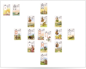 Lenormand cards for Ground Zero